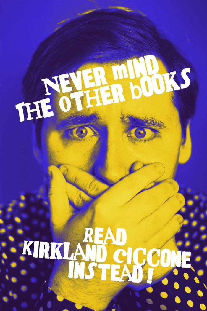 A copy of the poster Kirkland Ciccone will give away free at his event.
